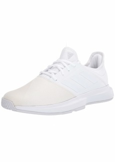 adidas Women's GameCourt Tennis Shoe FTWR White/FTWR White/Dash Grey  M US