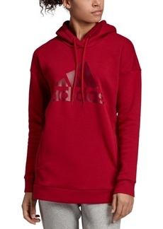 adidas Women's Logo Relaxed Fleece Hoodie