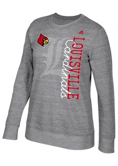 adidas Women's Louisville Cardinals Color Merge Crew Sweatshirt