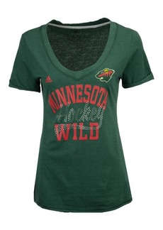 adidas Women's Minnesota Wild Hockey Shine T-Shirt
