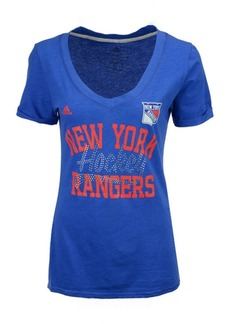 adidas Women's New York Rangers Hockey Shine T-Shirt