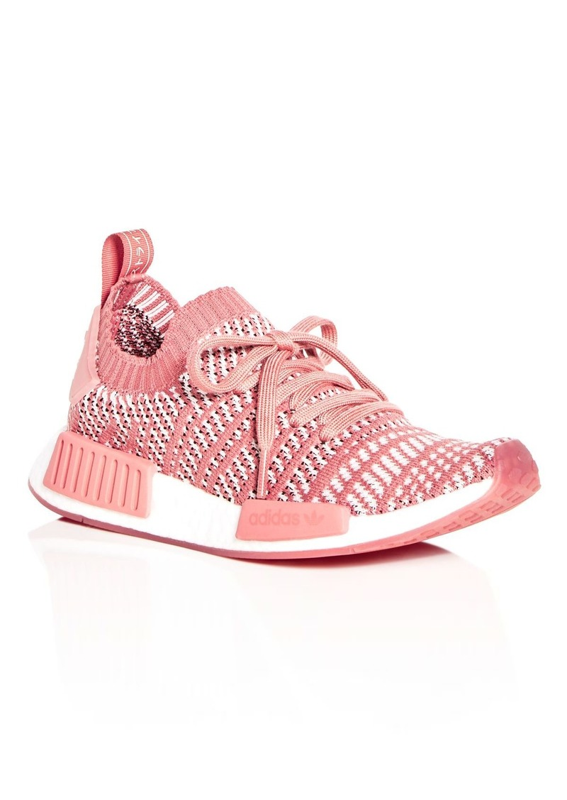 best cheap 6c332 e837d Adidas Womens NMD R1 Knit Lace Up Sneakers