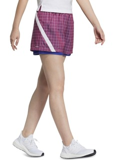 adidas Women's PrimeBlue Plaid Ripstop Shorts