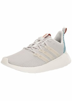 adidas Women's Questar Flow Track and Field Shoe Cloud raw White/Active Teal  Standard US Width US