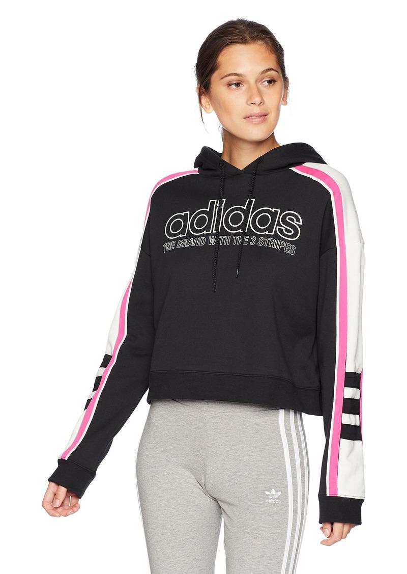 adidas Women's Racing Aa-43 Cropped Hooded Sweatshirt  L