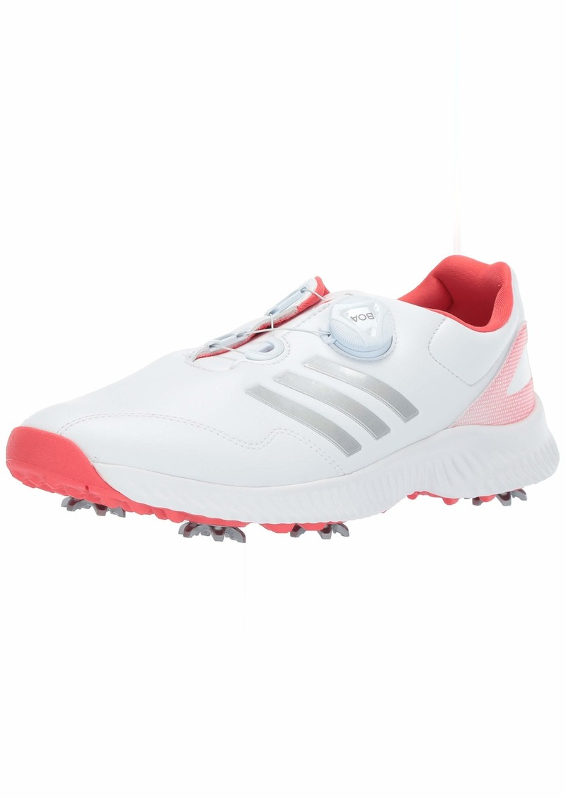 Adidas Adidas Women S Response Bounce Boa Golf Shoe Ftwr White Silver Metallic Real Coral M Us Shoes