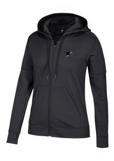 adidas Women's San Jose Sharks Logo Stitched Full-Zip Hooded Sweatshirt