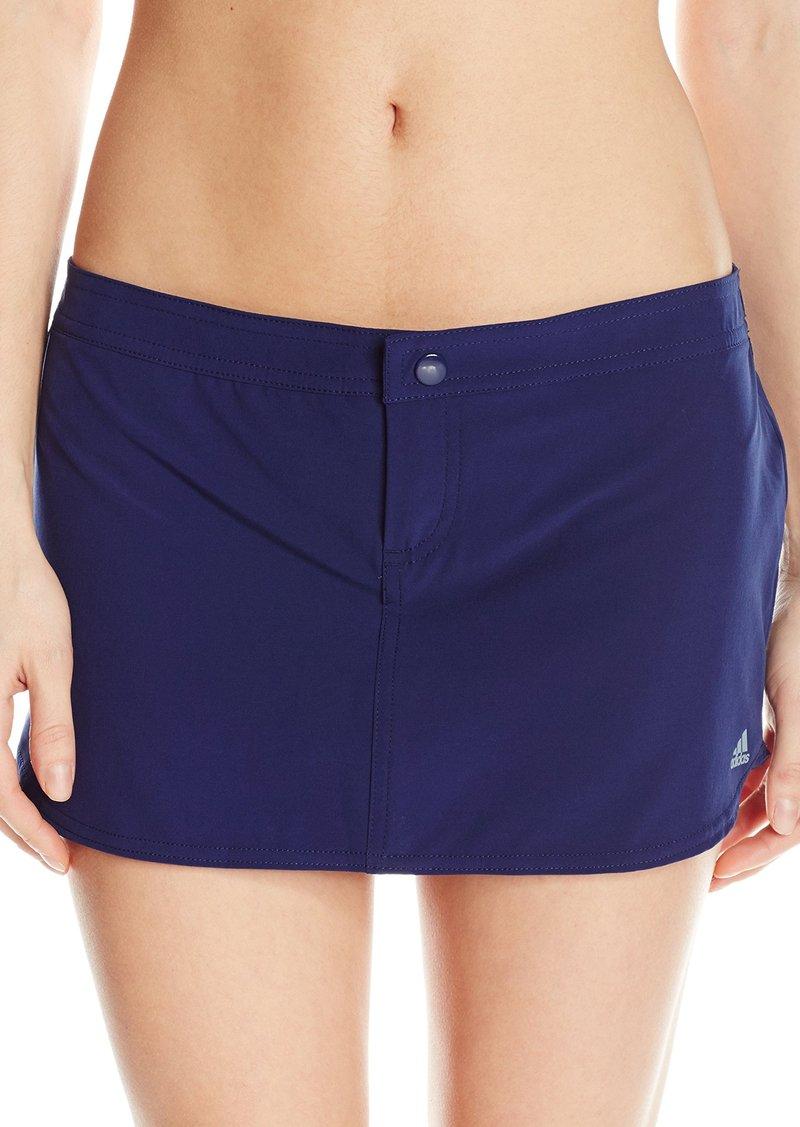 0d017f51ba89d Adidas adidas Women's Solid Woven Swim Skort Bikini Bottom with ...