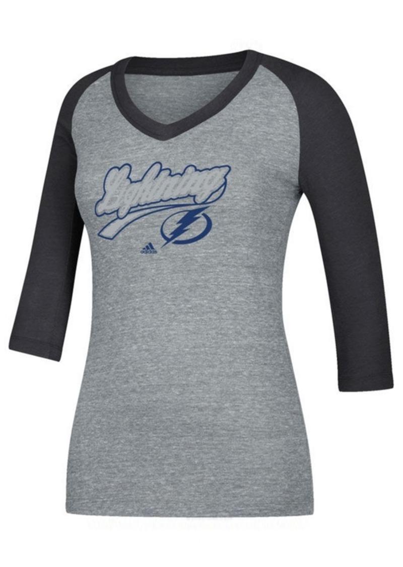 adidas Women's Tampa Bay Lightning Pearlized Raglan T-Shirt