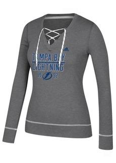 adidas Women's Tampa Bay Lightning Skate Lace Long Sleeve T-Shirt