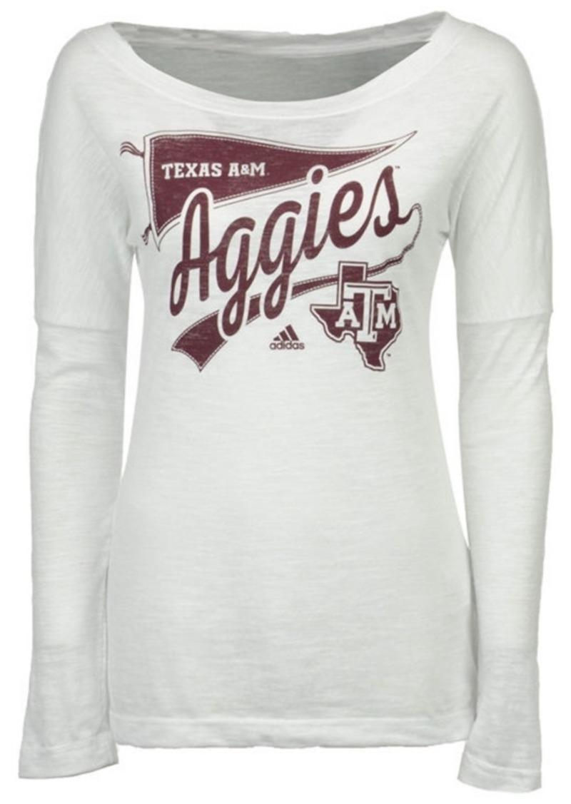 adidas Women's Texas A & M Aggies Pennant Pride Long Sleeve T-Shirt
