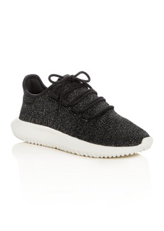 Adidas Women's Tubular Shadow Glitter Knit Lace Up Sneakers