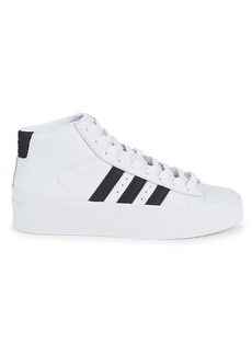 Adidas Leather Mid-Top Sneakers