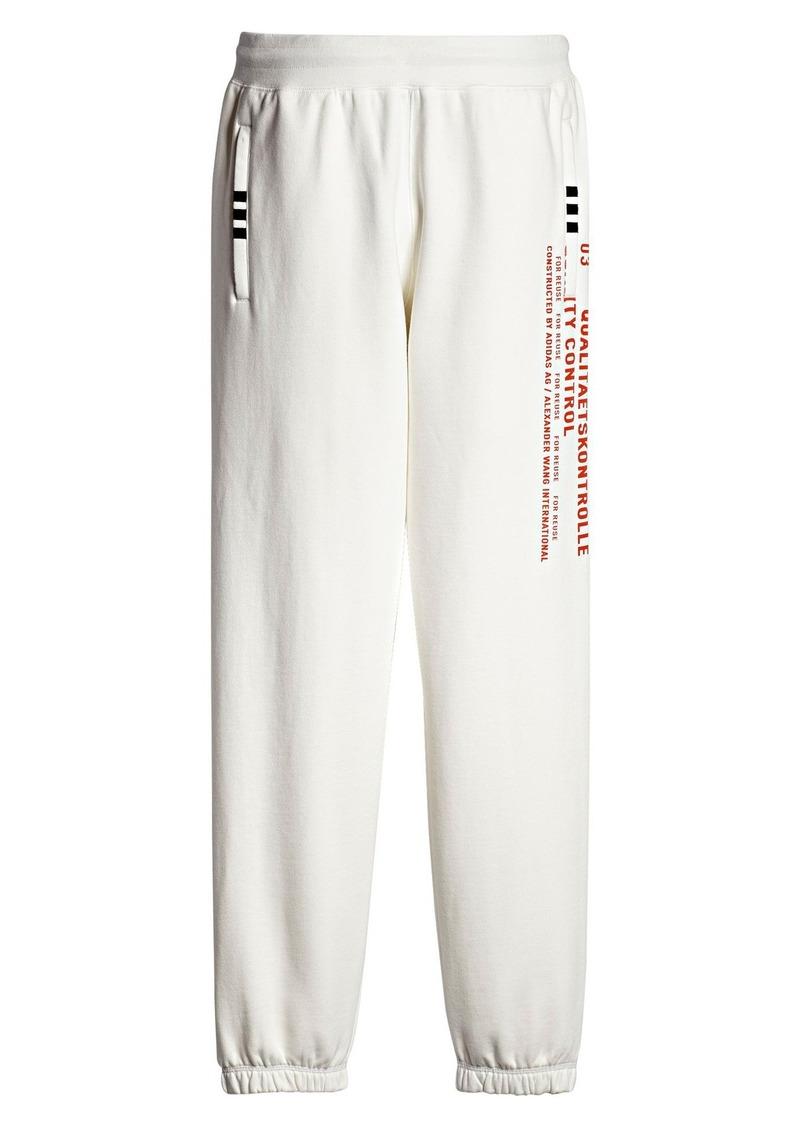 Adidas adidas x alexander wang grafite corridore occasionale i pantaloni
