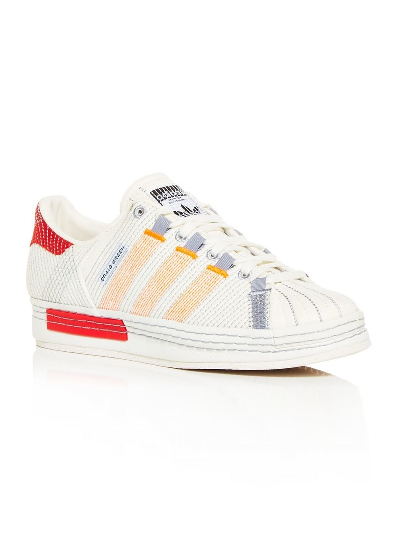 Adidas x Craig Green Men's Superstar Embroidered Low Top Sneakers