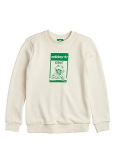 adidas x Disney Kids' Originals Kermit the Frog Crewneck Sweatshirt (Big Boy)