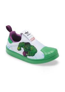 adidas x Marvel Hulk Superstar Slip-On Sneaker (Baby, Walker, Toddler & Little Kid)