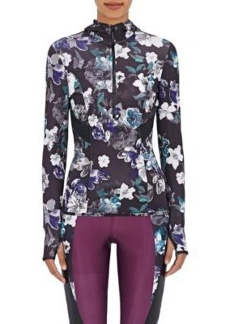 adidas x Stella McCartney Women's Paneled Hoodie-BLACK, DARK GREEN, PURPLE, GREY, NO COLOR Size XS