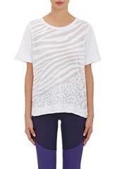 adidas x Stella McCartney Women's Zebra-Striped Cotton Jersey T-Shirt