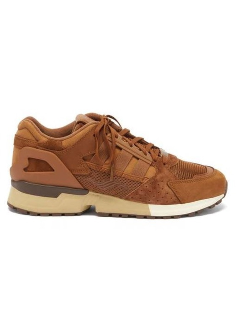 Adidas ZX 10000C suede and mesh trainers