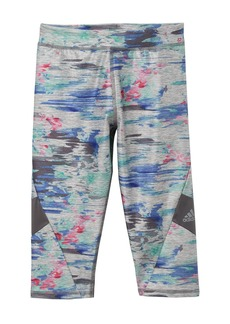 Adidas Alpha Printed Melange Capri Leggings (Big Girls)
