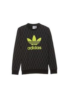 Adidas AOP Crew Sweatshirt (Toddler/Little Kids/Big Kids)