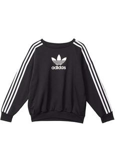 Adidas 3 Stripe Crew Sweatshirt (Toddler/Little Kids/Big Kids)