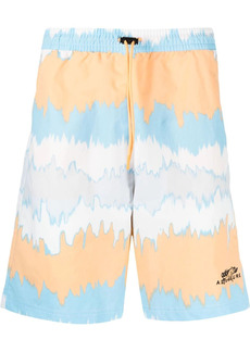 Adidas Archive tie dye-print swim shorts