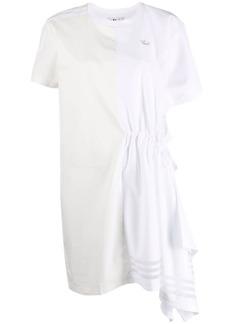 Adidas asymmetric panelled T-shirt dress