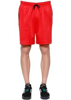 Adidas Aw Logo Jacquard Track Shorts