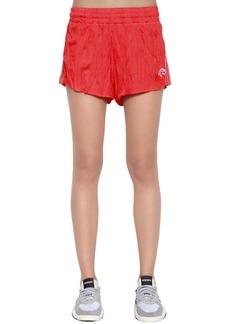 Adidas Aw Wrinkled Logo Jacquard Track Shorts