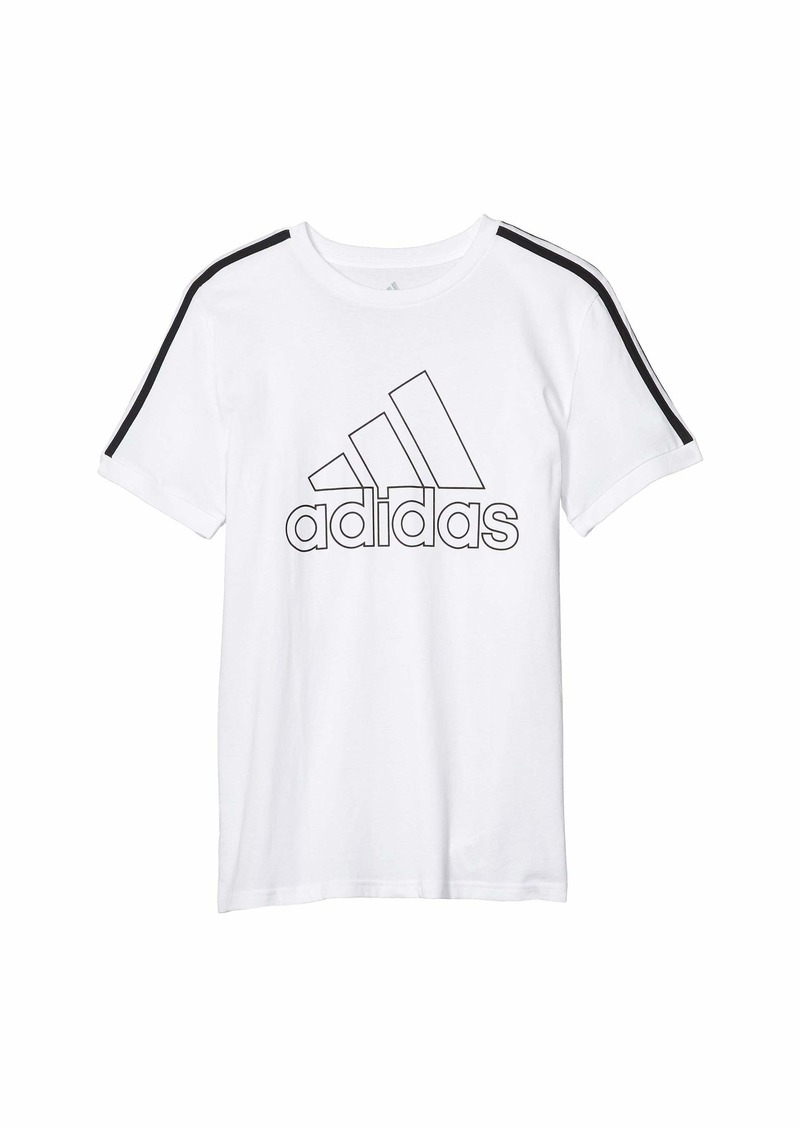 Adidas Badge of Sport Ringer Tee (Big Kids)