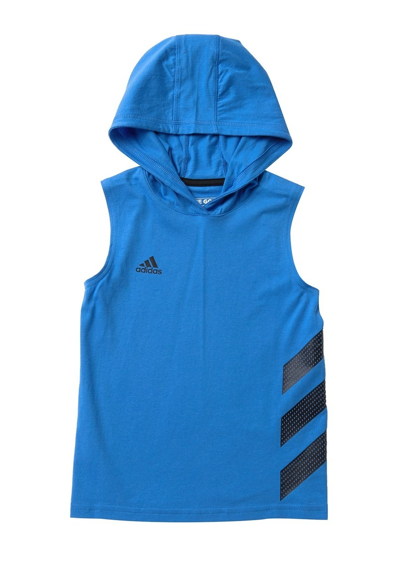 Adidas Basketball Stripe Hoodie (Toddler & Little Boys)