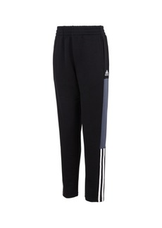 Adidas Big Boys Youth Color Block Terry Joggers