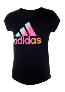adidas Big Girls Short Sleeve Scoop Neck T-shirt