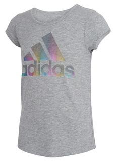 adidas Big Girls Short Sleeve Badge of Sport Square T-shirt