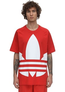Adidas Big Trefoil Cotton Jersey T-shirt