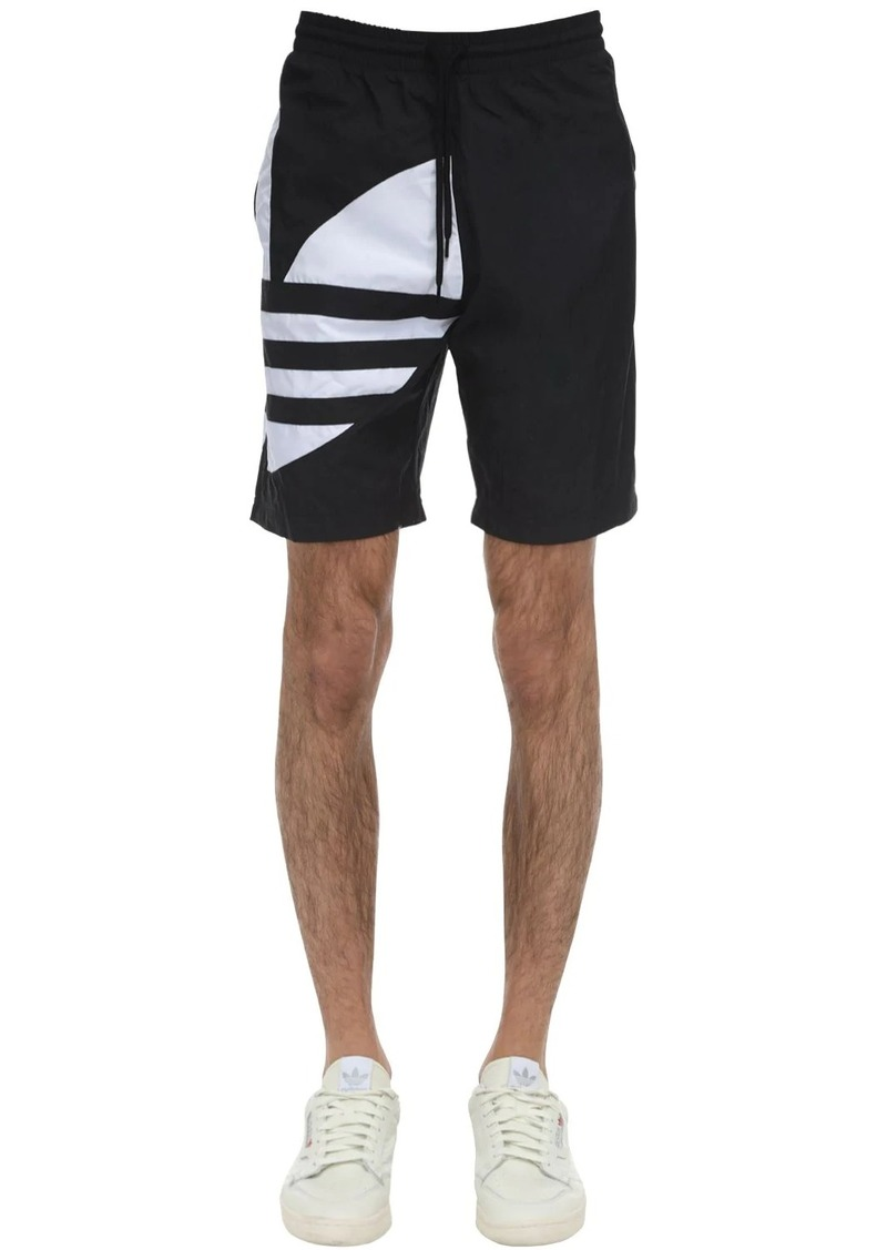 Adidas Big Trefoil Nylon Track Shorts