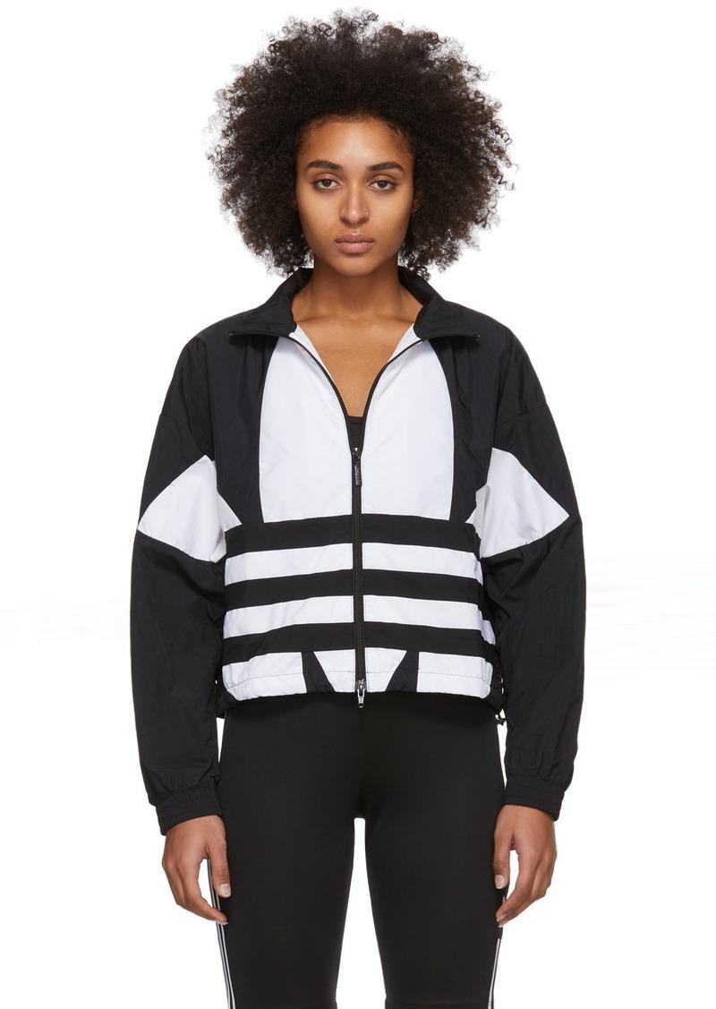 Adidas Black & White Large Logo Track Jacket