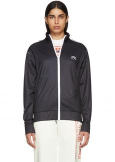Adidas Black & White Zip-Up Track Jacket