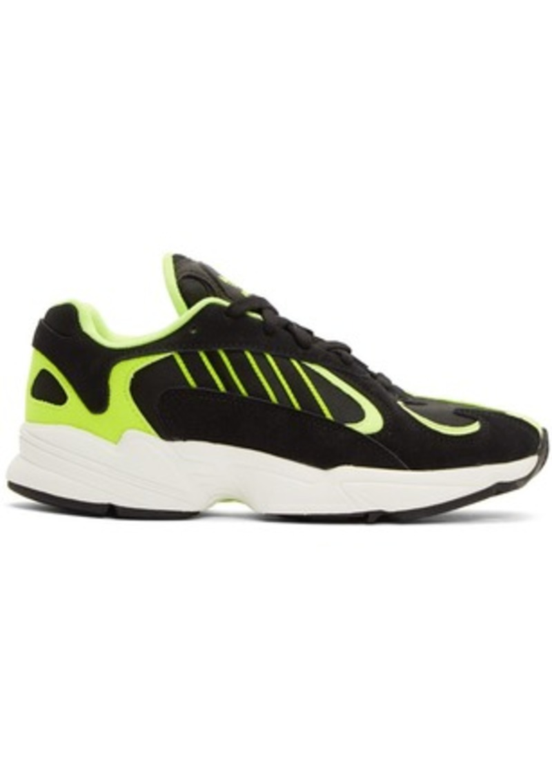 Adidas Black & Yellow Yung-1 Sneakers