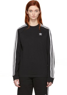 Adidas Black 3-Stripes Long Sleeve T-Shirt