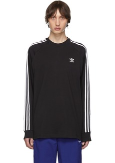Adidas Black 3-Stripes Long Sleeve T-Shirt