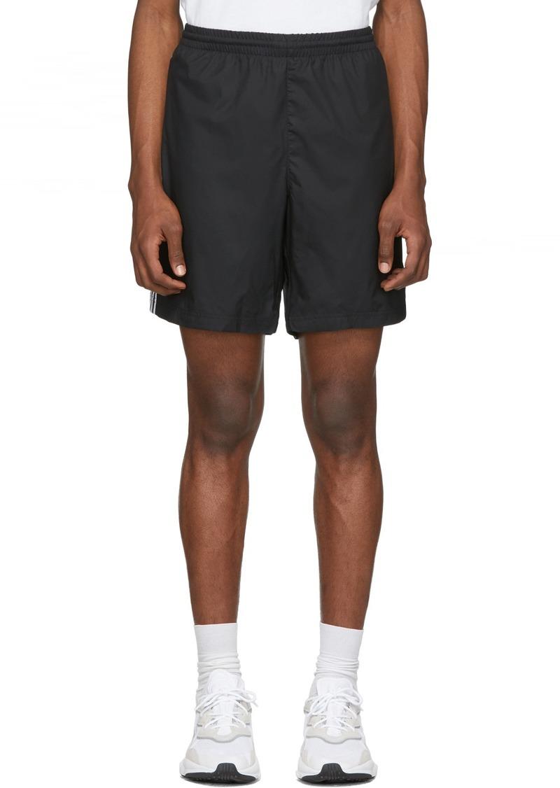 Adidas Black 3-Stripes Ripstop Shorts