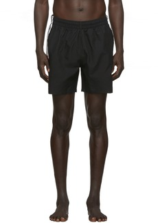 Adidas Black 3-Stripes Swim Shorts