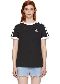 Adidas Black 3-Stripes T-Shirt