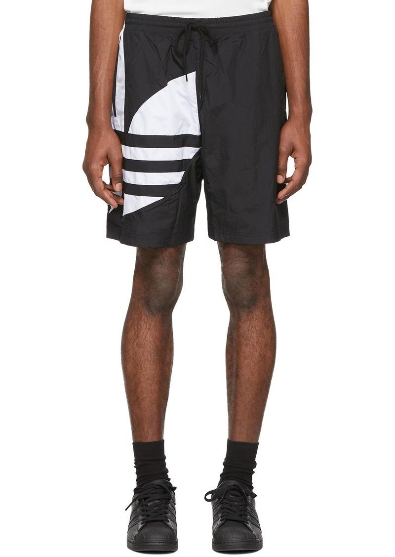 Adidas Black Big Trefoil Track Shorts