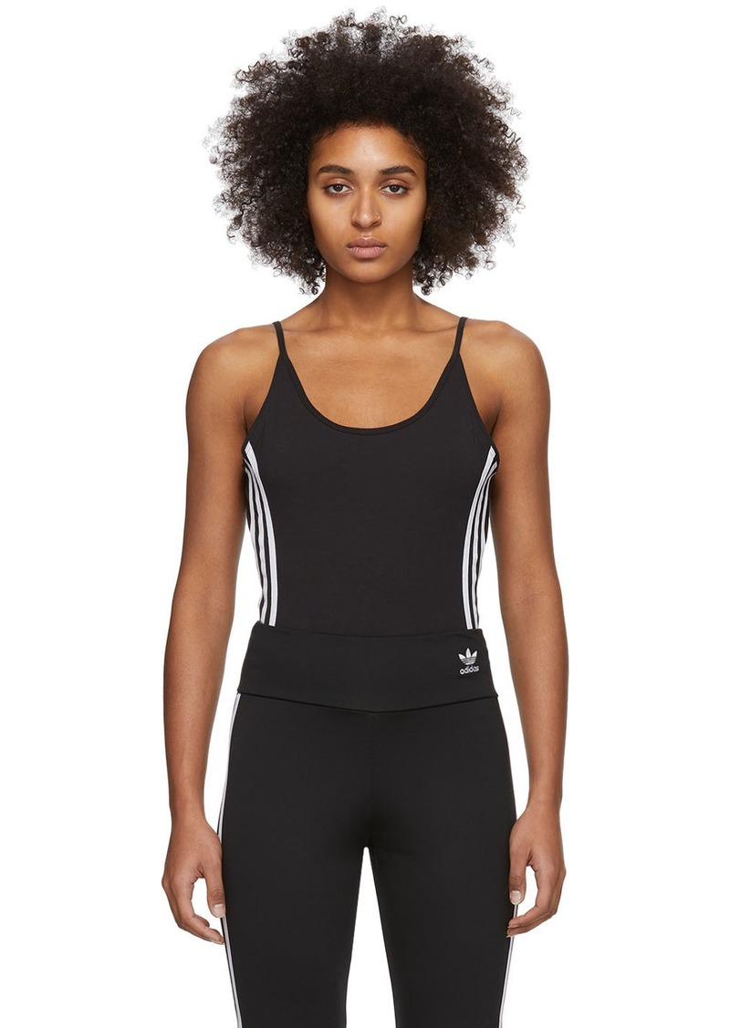 Adidas Black Cotton Bodysuit