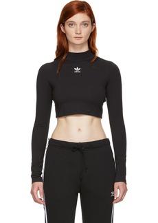 Adidas Black Crop Top Turtleneck