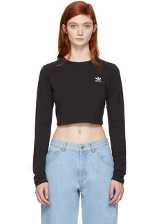 Adidas Black Cropped Styling Complements T-Shirt